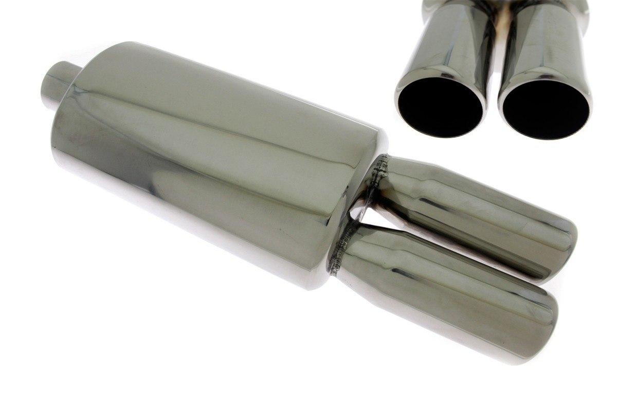 Tłumik Końcowy TurboWorks 2x76mm wejście 63,5mm - GRUBYGARAGE - Sklep Tuningowy